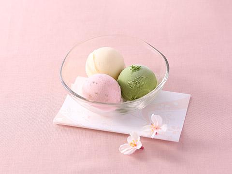 アイス3種盛り~さくら・抹茶・バニラ~
